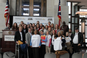 Group shot of the Southwestern abolitionist at Lobby Day - Photo by A. Riedel